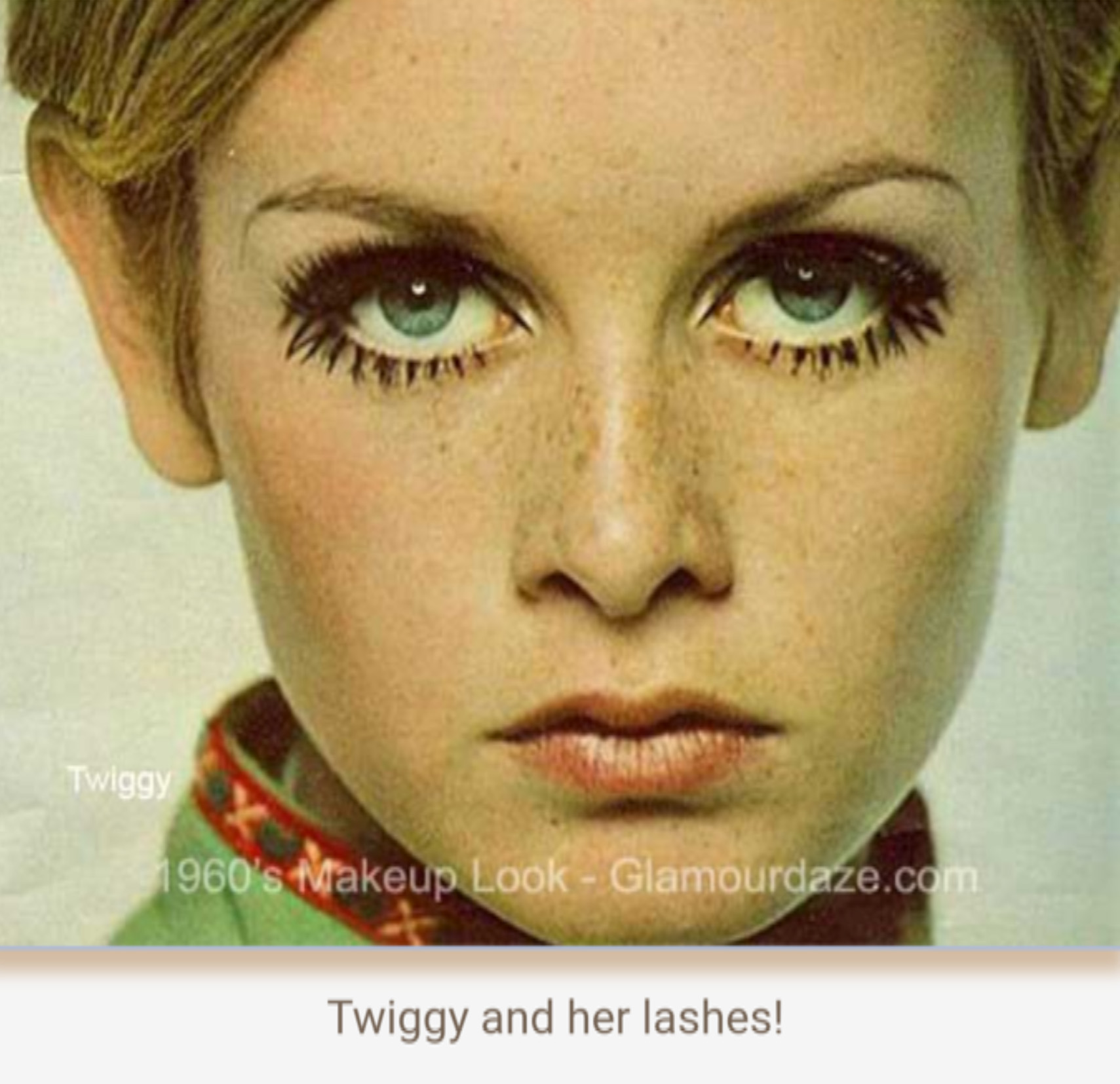 The makeup looks of 1960's
